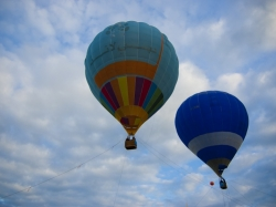 Two of the balloons used to give visitors a feel of what it's like