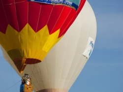 One of the first balloons that greet visitors to the festival