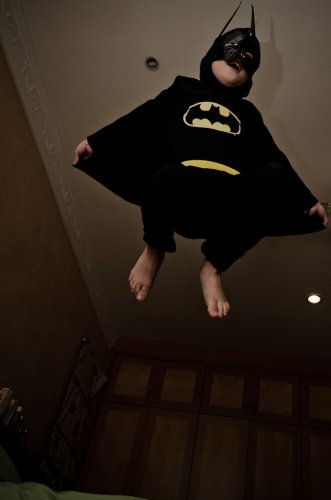 The Dark knight.. barefoot?