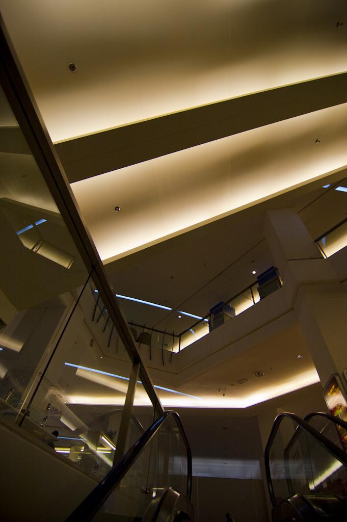 Going up an escalator, Tropicana City Mall