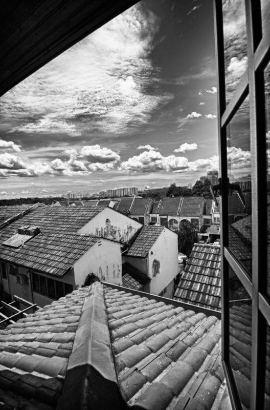 Midday B&W HDR