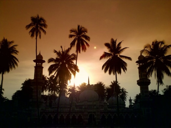 Sunset over Masjid Jamek