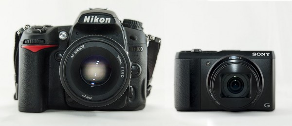 The Nikon D7000 and the Sony Cybershot DSC-HX50V
